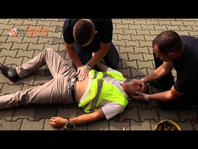 Szybkie badanie urazowe poszkodowanego w upadku