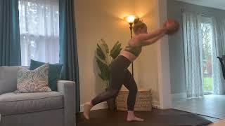 Single leg step back, knee & front raise