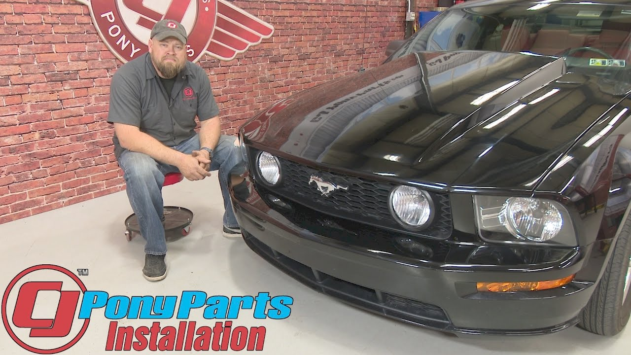 mustang headlight replacement 2010 2012 style with clear reflector pair 2005 2009 installation [ 1280 x 720 Pixel ]