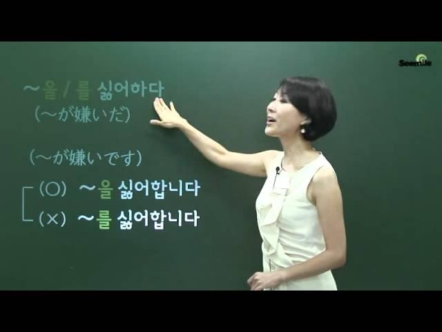 [SEEMILE II, 韓国語 基礎文法編] 8.~がいい/~が好きだ/~しに ~(이)가 좋다/~(을)를 좋아하다