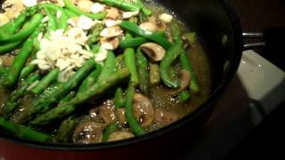 Asparagus Sweet Pepper Mushroom Stir Fry Gluten Free Organic Vegan Oil Free Forks Over Knives