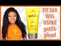 Got 2b Glued fitted on 360 Lace Frontal Wig  Beginners Friendly   Step By Step Guide