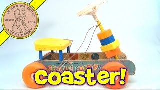 Vintage 1960's Fisher-Price Creative Coaster Riding Car with Blocks #987