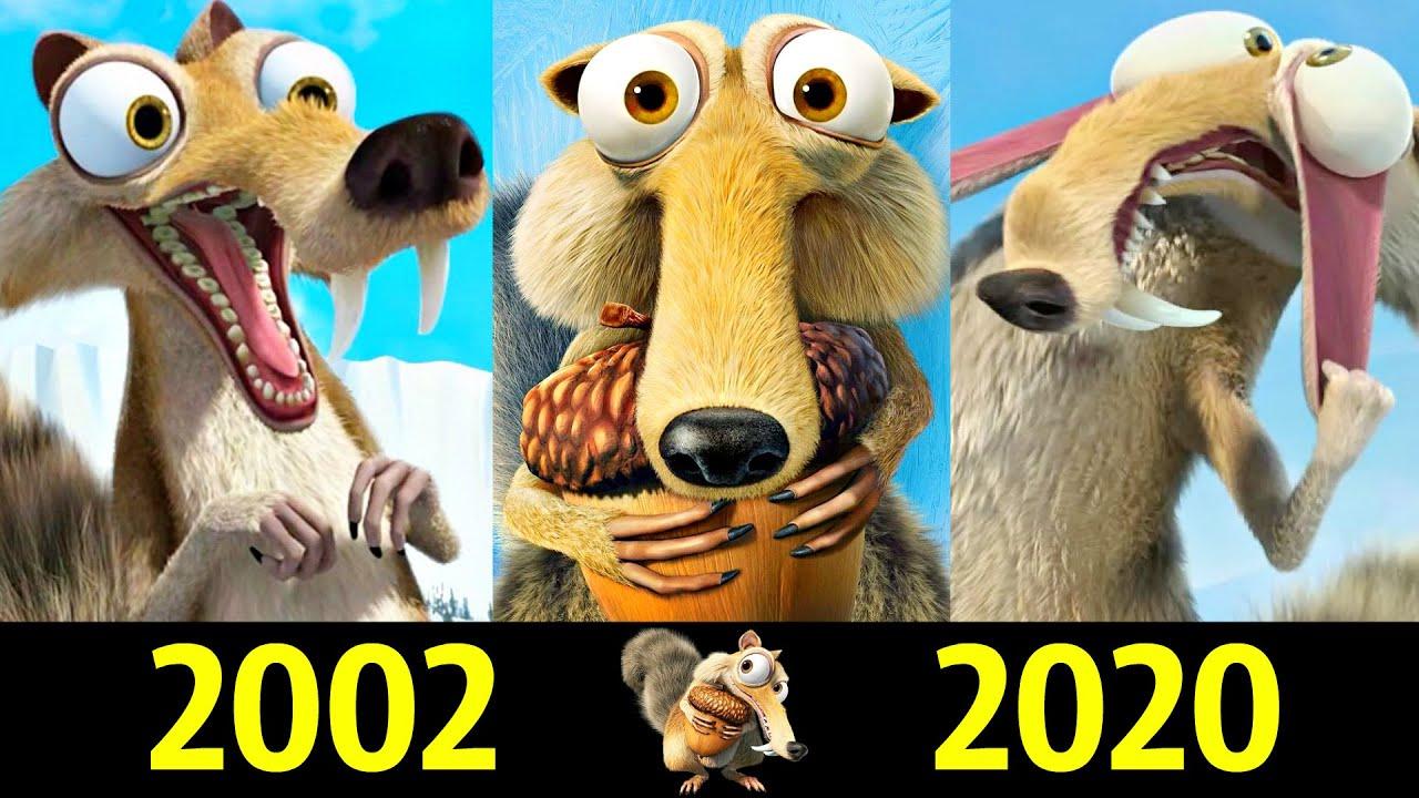 😆 Скрэт - Эволюция (2002 - 2020) ! Все Появления Саблезубой Белки 😝!