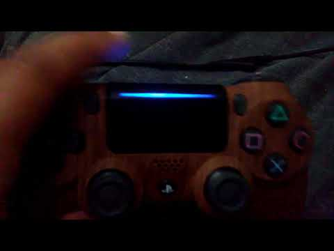 My custom wood grain PS4 controller