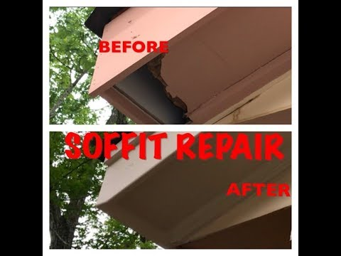 How to Repair Damaged Soffit on your House