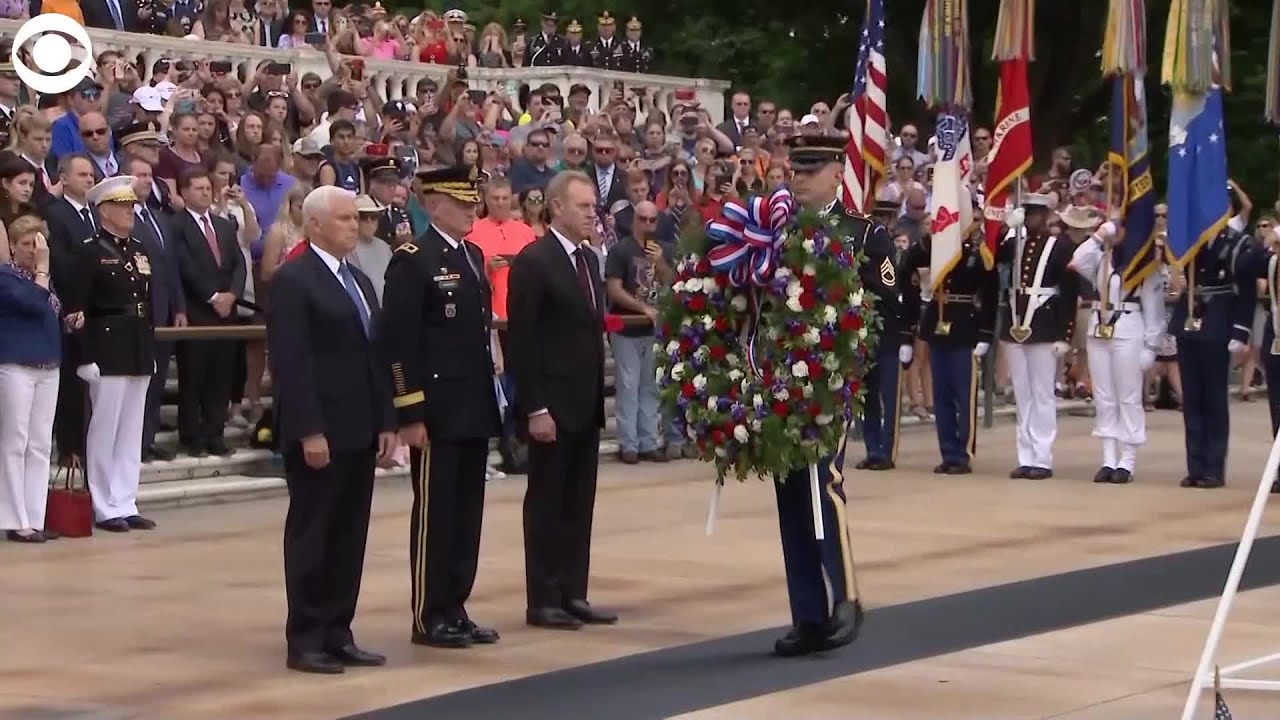 Pence pays respects at Arlington National Cemetery
