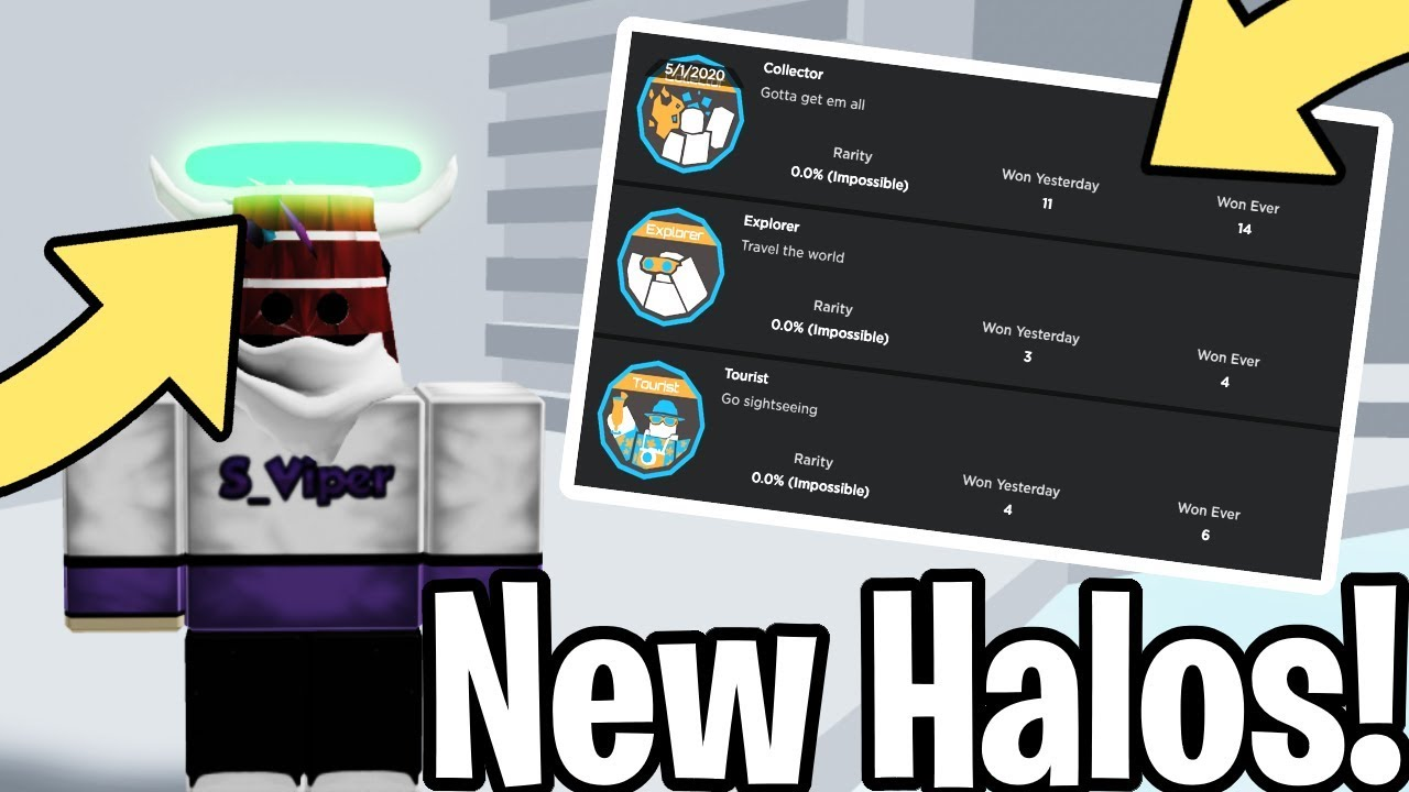 New Halos And Game Badges In Tower Of Hell Roblox Youtube