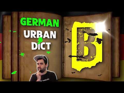 GERMAN URBAN DICTIONARY - Letter B 📖 A native speaker explains colloquial words & slang! | VlogDave