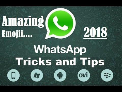 WhatsApp SUPER SECRET New TRICK 2018 Emoji - YouTube