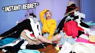 Throwing out half my wardrobe - EXTREME Wardrobe Clearing!
