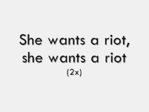 Good Charlotte riot girl lyrics