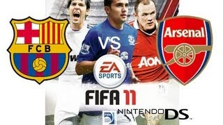FIFA 11 (Nintendo DS) - Gameplay FC Barcelona vs Arsenal