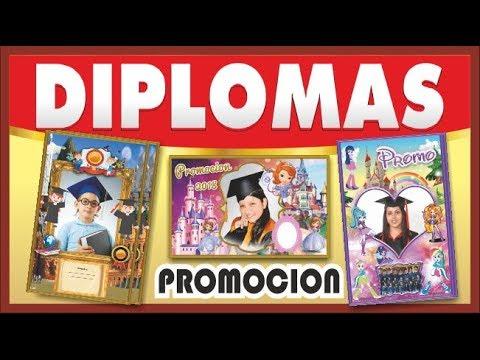 diplomas para imprimir - Diplomas de Promoción - Descargar - YouTube