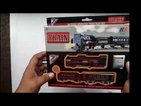 battery operated train play set unboxing for kids