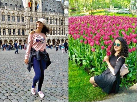 SILSILA... Europe Travel Vlog!!! Keukenhof TULIP Garden | Amsterdam | Germany | Brussels,Belgium