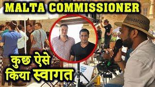 Salman Khan से मिलने पहुँचे Malta के Commissioner | कुछ इस तरह किया Bharat Film की Shooting में मदद