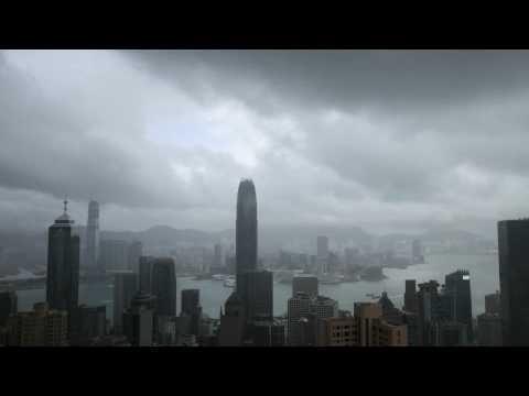 """TimeLapse Typhoon """"Nangka"""" over Hong Kong"""