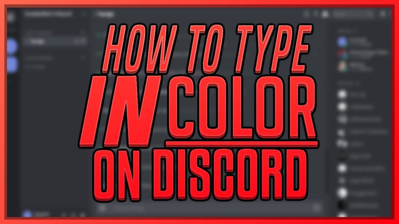 HOW TO TYPE IN COLOR ON DISCORD (SYNTAX CODES) [WORKING]