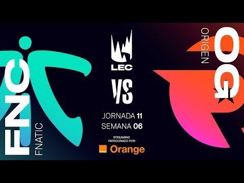 FNATIC VS ORIGEN | LEC | Spring Split [2019] League of Legends
