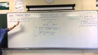 Harder Trigonometric Equations (3 of 3: Pairing, Dividing by Cosine, and a Trap)
