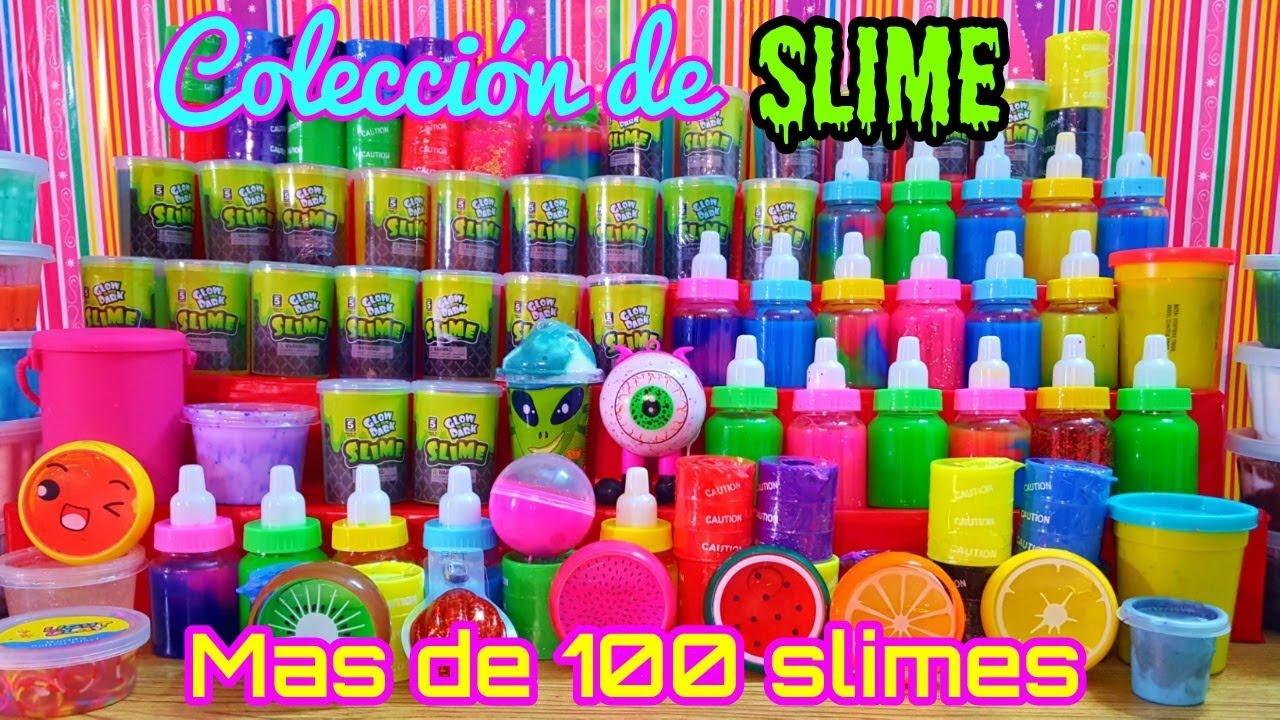 63acb5d19 Mi colección de slime mas de 100 slimes - YouTube