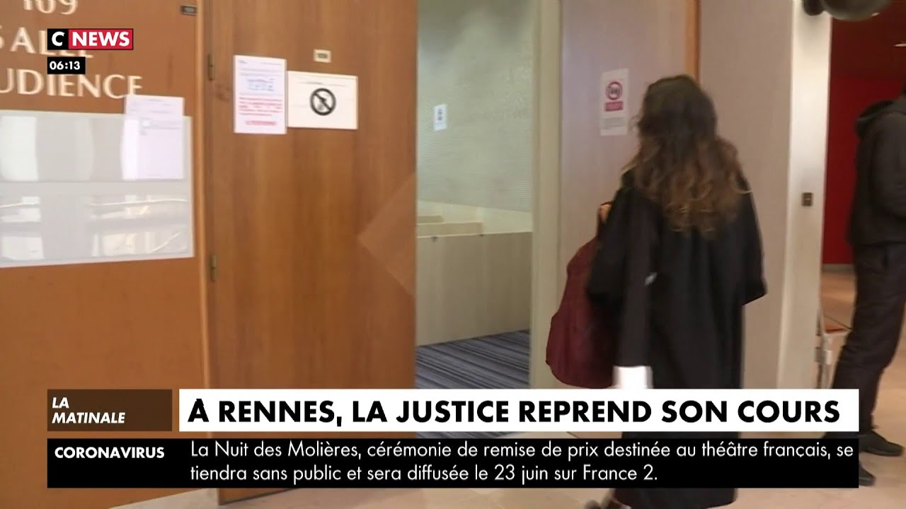 Déconfinement : le tribunal de Rennes reprend le travail