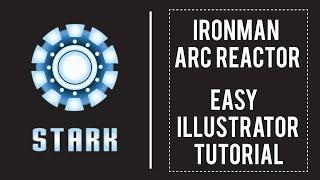 Iron Man Arc Reactor Illustrator tutorial | Easy flat design