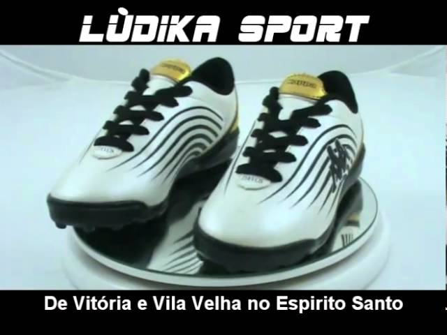 Ludika Sport - Chuteira KAPPA Society Branca e Dourada - Vila Velha e Vitória - Espirito Santo