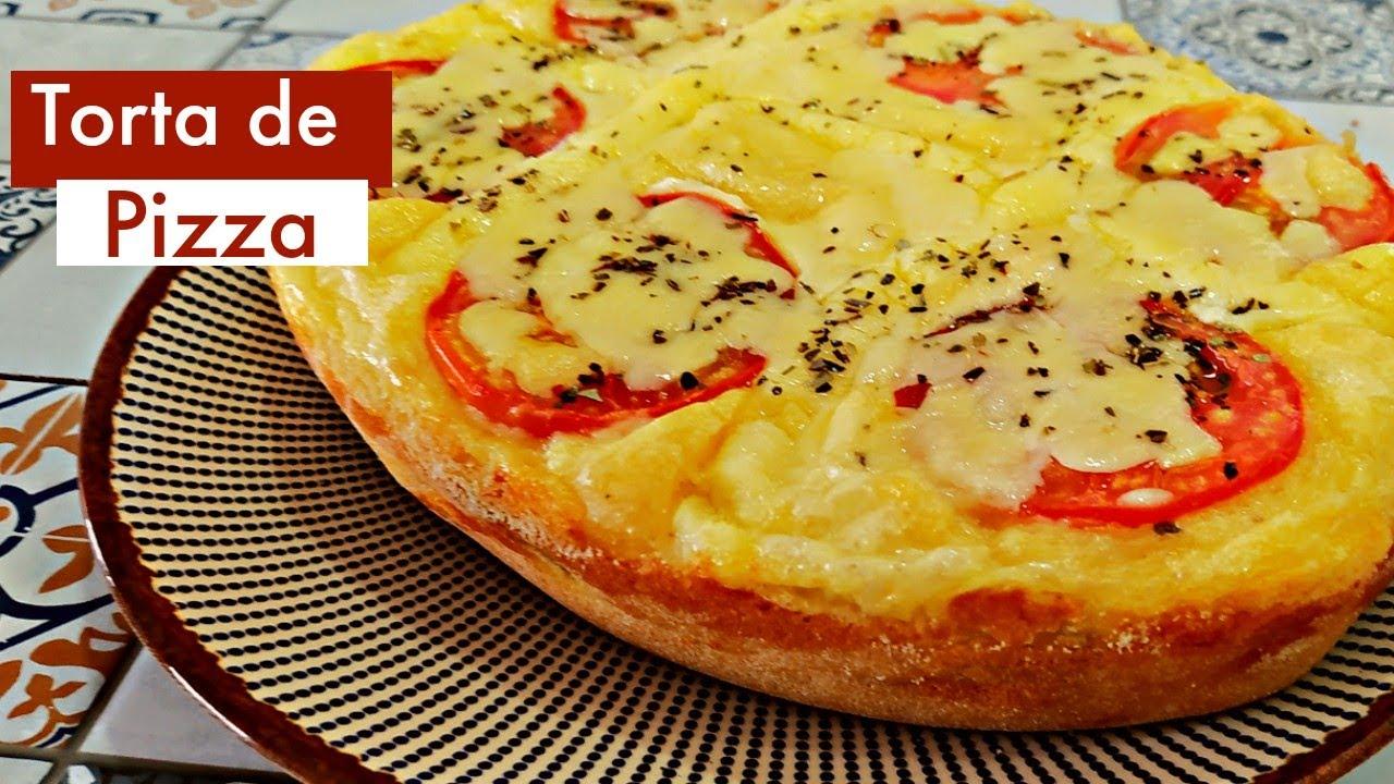 Torta de Pizza - Lanche rápido e delicioso