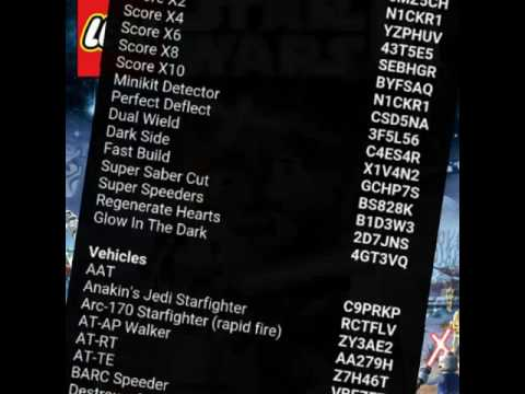 cheat code for lego star wars 3