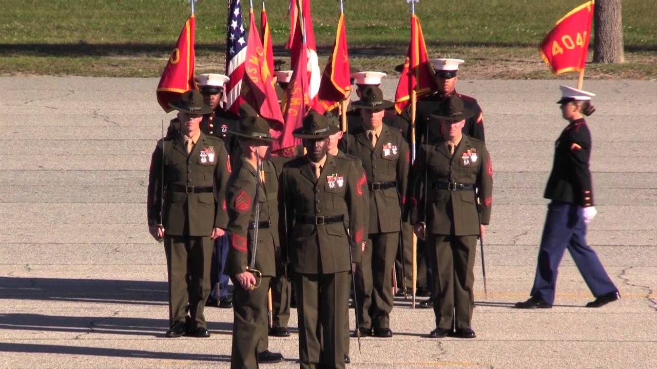 mike & november company graduation ceremony clip - parris island