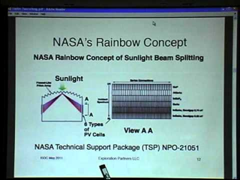 Space Solar Power: Two Cell High Efficiency Rainbow Concentrator - Thomas C. Taylor