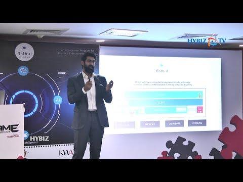 Rana Daggubati   Anthill Studio accelerator startups showcase tech