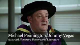 Johnny Vegas honoured at Edge Hill University Graduation