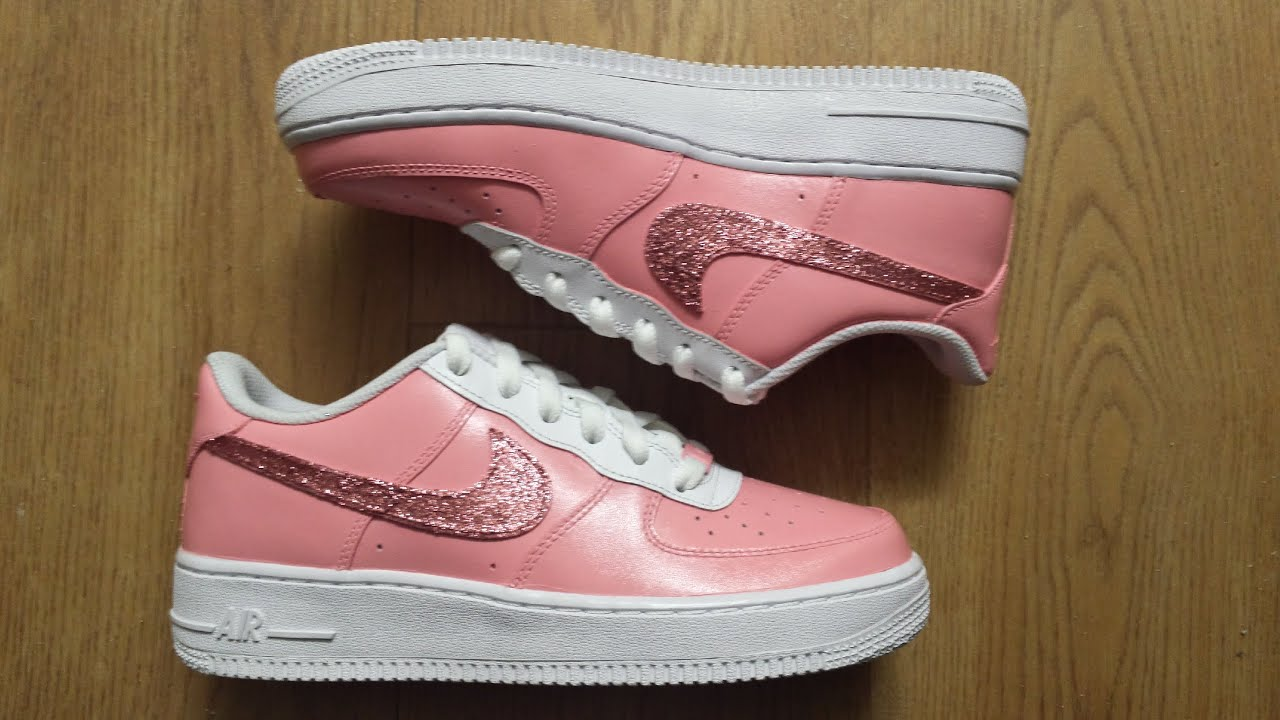 nike air force 1 custom pink