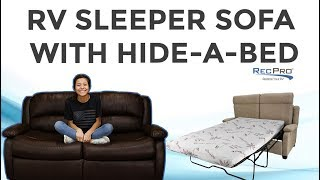 RV Sleeper Sofa with Hide-A-Bed