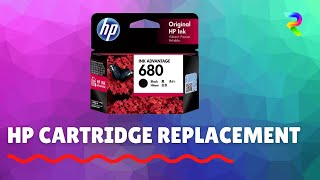 Replacing the HP 680 cartridge on a HP 3635