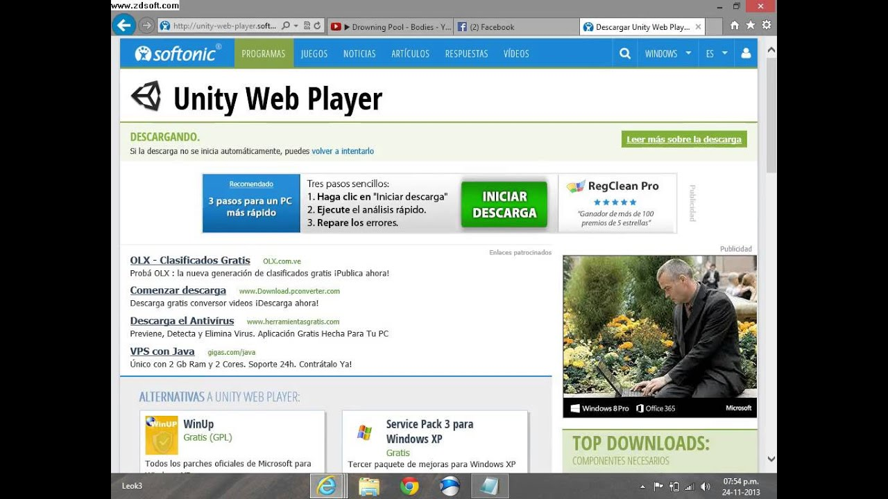 descargar unity 3d gratis para windows xp
