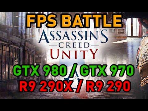 Assassin's Creed Unity - GTX 980/GTX 970/R9 290X/R9 290 - FPS Battle - Nvidia Vs AMD [Benchmark]