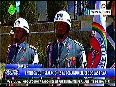 Evo Morales entrega Instalaciones a la FFAA y Acusa a Carlos D Mesa de reunirse con EEUU