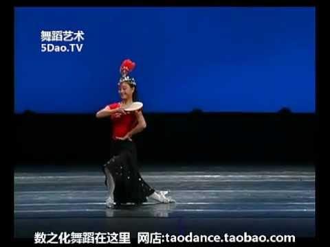 第十届桃李杯技巧组合 陈玲 维吾尔族+瑶族 民族民间舞 少年B级
