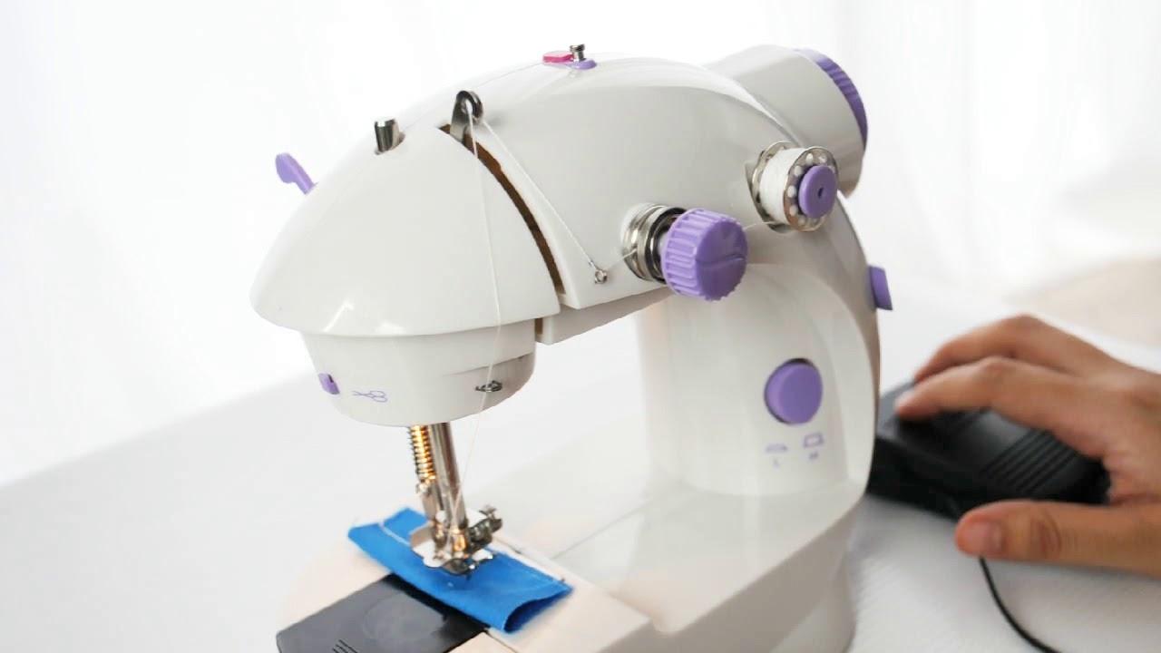 MINI MAQUINA DE COSER RESEÑA Y USO/Mini sewing machine