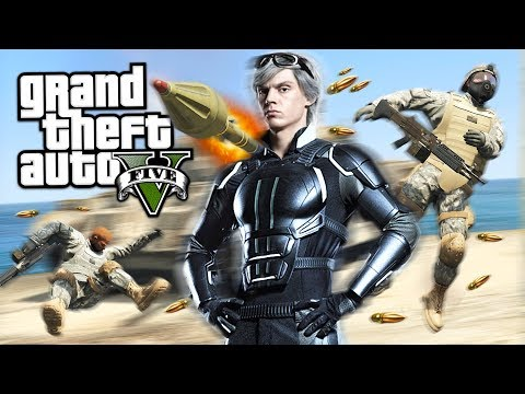 GTA 5 Mods - QUICKSILVER MOD w/ SUPER SPEED!! GTA 5 Quicksil