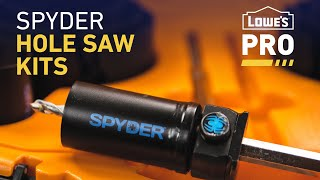 Spyder Hole Saw Kits | Pro Picks from Lowe's Pro