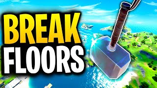 How MANY FLOORS Will THOR'S HAMMER BREAK THROUGH? | Fortnite Mythbusters