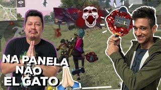 EL GATO ESTA JUDIANDO DOS PLATINA NA RANQUED! FREE FIRE