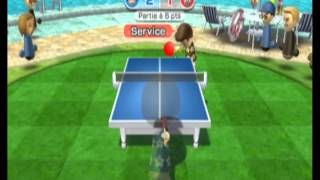 [Wii Sports Resort] Table Tennis 0 to 1500 and defeat champ