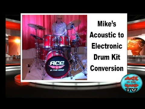 Acoustic to Electronic Drum Kit conversion with 2BoxDrumit Five module