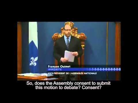 National Assembly of Quebec - Motion on Armenian Genocide